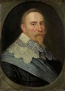 Portret van Gustav II Adolf Wasa, koning van Zweden (1594-1633)