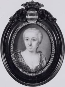 Portret van Levina van Mollem (1705-1743)