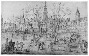 Het Abdijplein in Middelburg