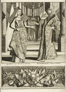 Dubbelportret van Maximilaan van Habsburg (1459-1519) en Maria van Bourgondië (1457-1481)