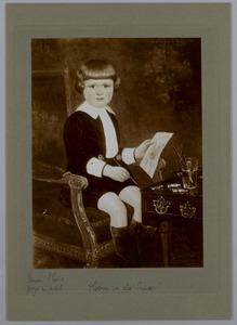 Kinderportret van H.J. van der Auwera op 3-jarige leeftijd