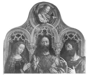 Zegenende Christus geflankeerd door Maria en Johannes de Doper