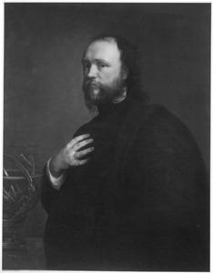 Portret van Sir Kenelm Digby met een gebroken hemelglobe