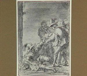 Lazarillo wijst zijn vroegere meester aan als verleider van het meisje (Lazarillo de Tormes dl. 2, cap. 13, p. 94)