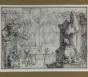 Christus predikt te Kapernaüm (Marcus 1:21)