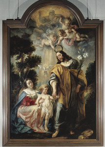De Heilige Familie met de kroning van de H. Jozef