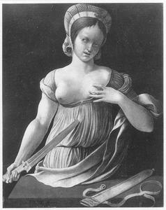 De zelfmoord van Lucretia (achterzijde: Portret van een 35-jarige man)