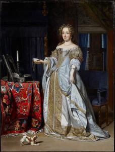 Portret van een vrouw, waarschijnlijk Lucia Wijbrants (1638-1719)