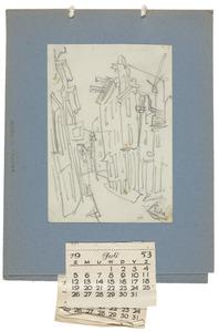 Straatje in Amsterdam (kalender juli-september 1953)