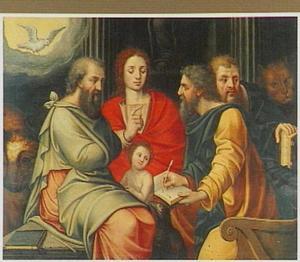 De vier evangelisten en de heilige geest