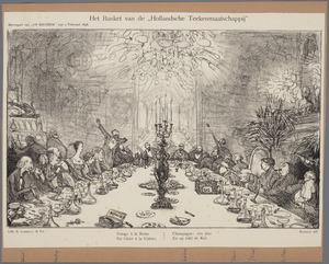 """Het banket van de """"Hollandsche Teekenmaatschappij"""""""