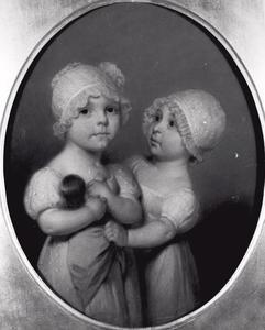 Portret van Catharina Maria van Loon (1810-1882) en Henrietta Cornelia van Loon (1811-1879)