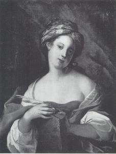 Portret van een onbekende dame als Sibylle
