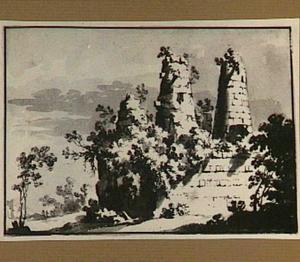 Ruïne van het zogenaamde graf der Horatii en Curiatii bij Albano