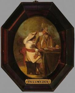 Interieur met twee mannen