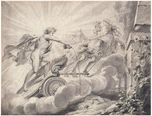 Apollo giet nectar op het graf van Leucothoe (Metamorfosen)