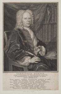 Portret van Gerhardus Dumbar (1680-1744)
