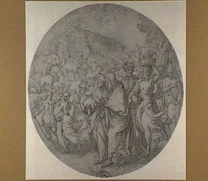 De inscheping in de ark van Noach, zijn familie en de dieren  (Genesis 7:7-15)