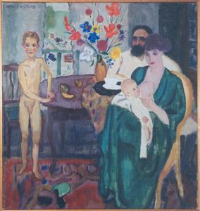 Het gezin van de schilder (voorstudie)