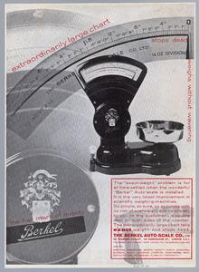 Advertentie of deelbrochure voor Van Berkel weegschalen