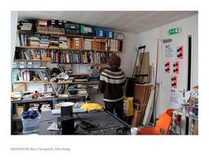 Nico Feragnoli in zijn studio