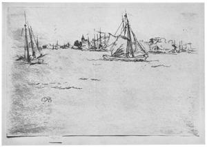 Gezicht op Dordrecht vanaf de rivier