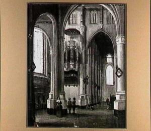 Interieur van de Sint Laurenskerk in Rotterdam