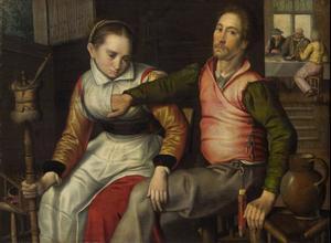 vensterLiefdespaar in een herberg