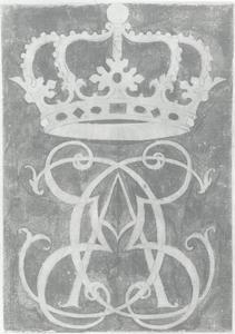 Ontwerp voor koninklijk monogram van koning Christiaan V