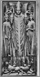 Aartsbisschop Siegfried van Eppsteindie die graaf Willem II van Holland (1228-1256) en Heinrich Raspe van Thuringen kroont