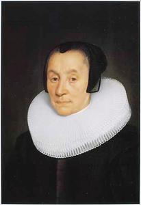 Portret van  Anna Luls, echtgenote van Diederick Hoeufft , op 73-jarige leeftijd