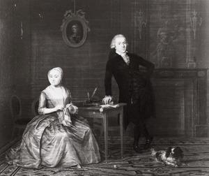 Dubbelportret van Nicolaas Wilhelmus Buddingh (1749-1835) en Anna van Royen (1754-1790)