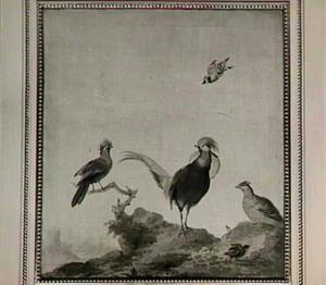 Vogels in een landschap