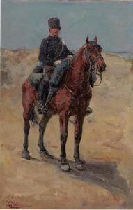 Cavallerist in de duinen