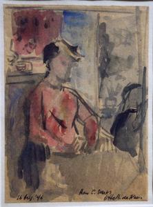 Het gele hoedje (portret Hans van Zijl)