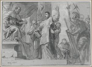 H. Laurentius voor de Romeinse prefect