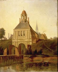 Gezicht op de Buiten Apoort te Groningen