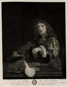 Zingende man met een viool