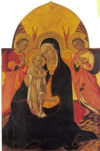 Maria en kind met engelen