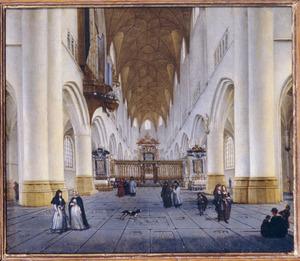 Gezicht in de St. Bavo te Haarlem in de richting van het koor