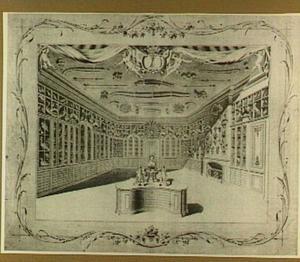Interieur van het cabinet van Catharina Sirtema van Grovestins, Den Haag