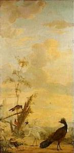 Landschap met vogels