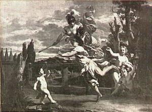 De wedstrijd tussen Atalanta en Hippomanes of Meilanion