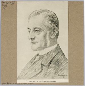 Portret van Jhr. mr. A.F. de Savornin Lohman