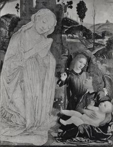 Maria aanbidt het Christuskind