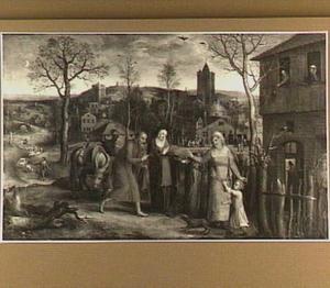 Maria en Jozef wordt de toegang tot de herberg geweigerd