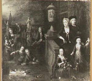 Familieportret, mogelijk de familie Loopman