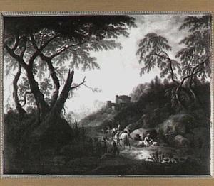 Zuidelijk landschap met reizgers