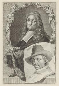 Portretten van Ludolf Bakhuizen (1630-1708) en Vincent Laurensz. van der Vinne I (1628-1702)