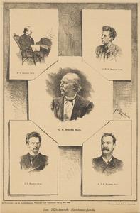 Portretten van Cornelis Alijander Brandts Buys (1812-1890), drie van zijn zonen en een kleinzoon